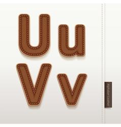 Alphabet leather skin texture vector