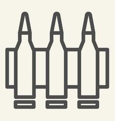 ammunition line icon bullets vector image