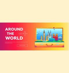 around world - line travel web page vector image