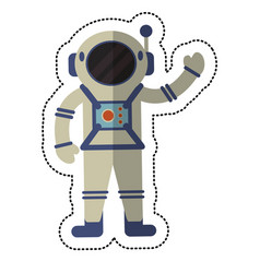 astronaut exploration suit space shadow vector image