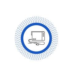 Audio card external interface sound line icon vector