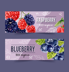 Banner design with pineapple and plum concept vector