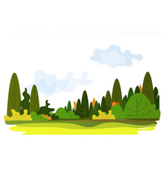beautiful nature landscape background horizontal vector image