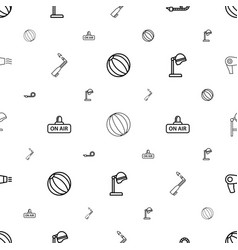 Blow icons pattern seamless white background vector
