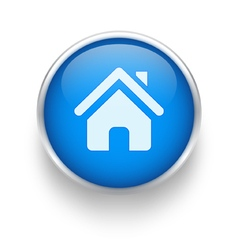 Blue home icon vector