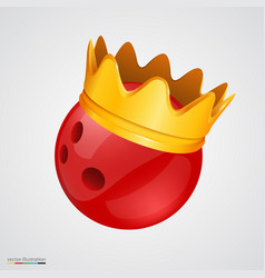 Bowling ball with a golden crown vector