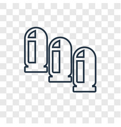Bullet concept linear icon isolated on vector