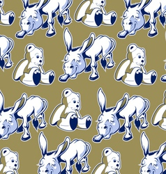 Cartoon donkey bear background funny style vector