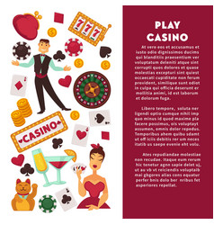 casino poker game poster vector image