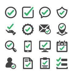 Check icon set vector