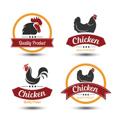Chicken label 4 vector