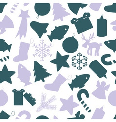 christmas icon color pattern eps10 vector image