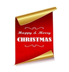 christmas sheets paper vector image