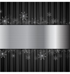 Concept New Year background with metallic elements vector image