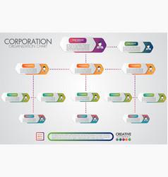 Corporate organisation chart template vector