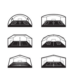 Covered sports facilities vector