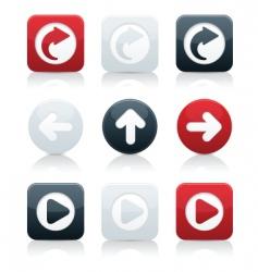 directional arrows vector image