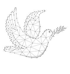 Dove with branch - symbol international day of vector