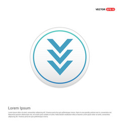 Down arrow icon - white circle button vector