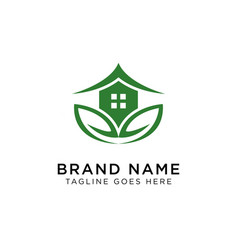 eco house logo design inspiration vector image