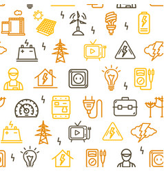 electricity signs seamless pattern background vector image
