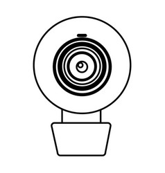 figure computer camera icon vector image