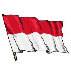 flag of Monaco vector image