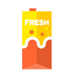 fresh juice pack isolated cardboard box for drink vector image vector image