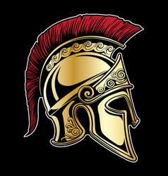 Gladiator spartan helmet vector