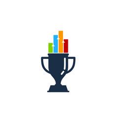 graph trophy logo icon design vector image