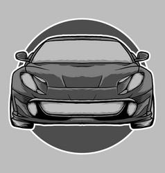 Gray sport car vector