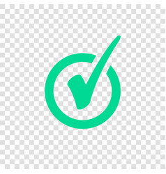 green check mark icon in circle tick symbol vector image