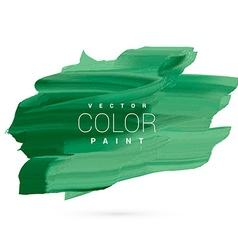 Green water color paint stain design vector