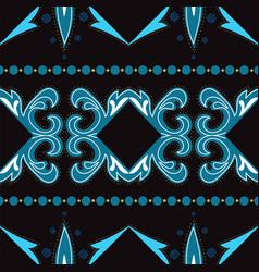 Indigo ethnic turkish ornament seamless vector