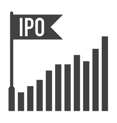 initial public offering vector image
