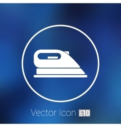 Iron icon steam heat isolated clothing vector