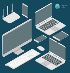 isometric busies office vector image