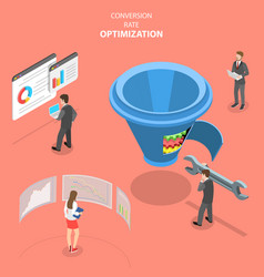 Isometric flat concept conversion rate vector
