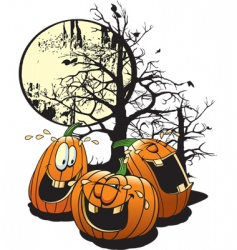 laughing pumpkins vector image