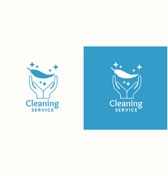 Logo for company cleaning service vector