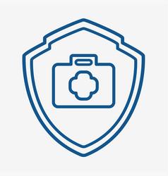 Medical protection icon design vector