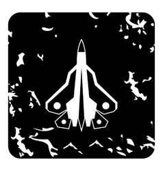 Military fighter icon grunge style vector image