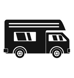 Motor house icon simple style vector