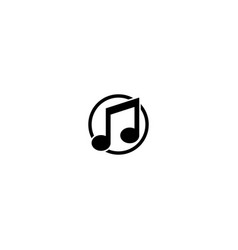 Musical note logo design template vector