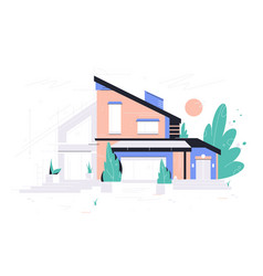 new modern house project vector image