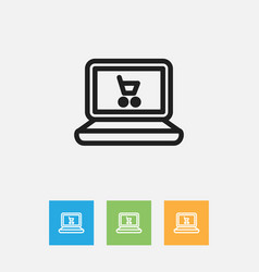 Of trade symbol on web trading vector