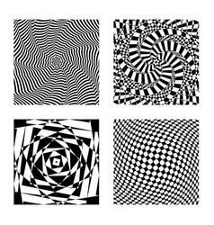 Optical illusion op graphic art hypnotic vector