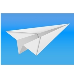 Origami paper airplane on white background vector