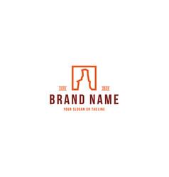 Palo duro logo design vector