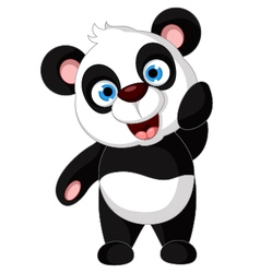Panda cartoon posing vector